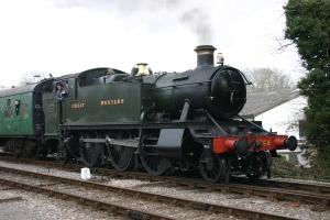 2013 Great Spring Steam Gala - Watercress Line - Medstead & Four Marks - GWR 5101 class Prairie Tank - 5164