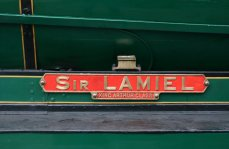 2013 Great Spring Steam Gala - Watercress Line - Ropley - N15 King Arthur class - 777 - Sir Lamiel name plate