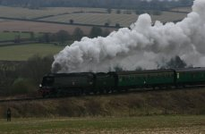 2013 Great Spring Steam Gala - Watercress Line - Approaching Ropley - Unrebuilt West Country class - 34007 Wadebridge