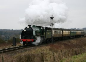 2013 Great Spring Steam Gala - Watercress Line - Approaching Ropley - N15 King Arthur class - 777 - Sir Lamiel