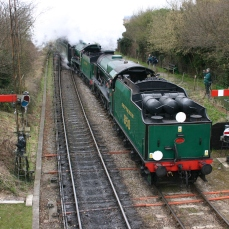 2013 Great Spring Steam Gala - Watercress Line - Ropley - 850 Lord Nelson & Schools class V 925 Cheltenham