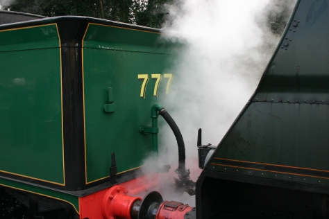 2013 Great Spring Steam Gala - Watercress Line - Alresford - N15 777 Sir Lamiel & Unrebuilt West Country 34007 Wadebridge