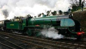 2013 Great Spring Steam Gala - Watercress Line - Ropley - N15 777 Sir Lamiel & Unrebuilt West Country 34007 Wadebridge