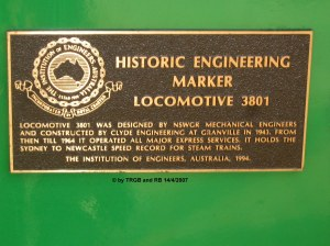 NSWGR C 3801 (historical engineering marker plate) - copyright Thomas Barnes