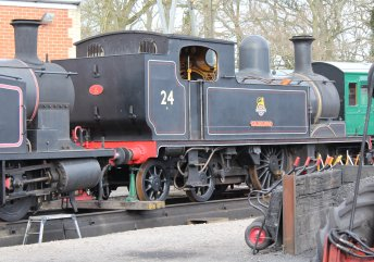 2013 - Isle of Wight Steam Railway - Havenstreet - Ex-LSWR 02 class - W24 Calbourne