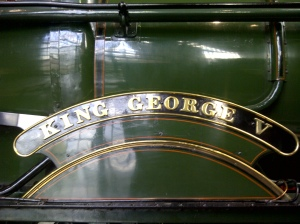 Nick Littlewood - GWR King class - 6000 King George V - NRM - 6th October 2012 nameplate