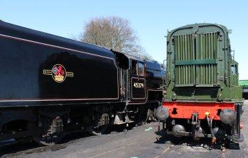 Watercress Line - 2013 - Ropley - Ex-LMS Black 5 5MT - 45379 & D12049