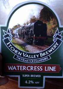 Watercress Line - Alton - 2013 - Real Ale Train - Itchen Valley Brewery - Watercress Line Bitter