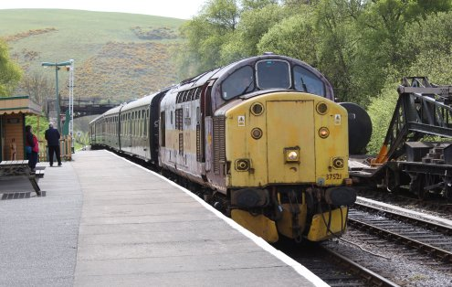 2013 - Swanage Railway - Norden - class 37 - EWS 37521 English China Clay