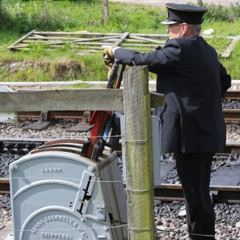 2013 - Swanage Railway - Norden - changing points