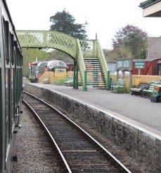 2013 - Swanage Railway - Corfe Castle - footbridge