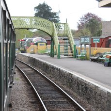2013 - Swanage Railway - Corfe Castle - footbridge