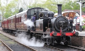 2013 - Kent and East Sussex Railway - Tenterden Town - Ex-LBSCR A1X Terrier - 32670
