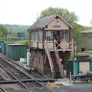 2013 - Kent and East Sussex Railway - Rolvenden - signal box