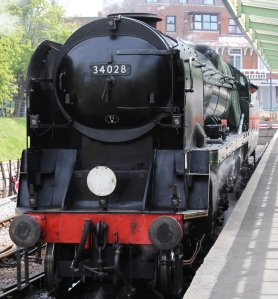 2013 - Swanage Railway - Swanage - Rebuilt West Country class - 34028 Eddystone