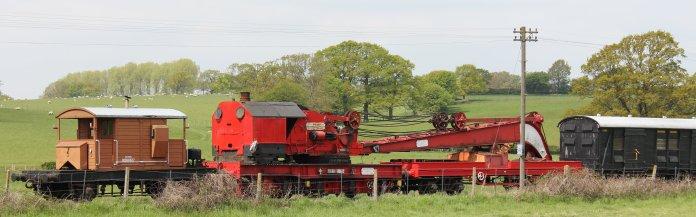 2013 - Kent and East Sussex Railway - Rolvenden - brake van & crane