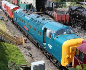 2013 - Swanage Railway - Swanage - Deltic class 55 - 55019 (D9019) Royal Highland Fusilier