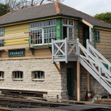 2013 - Swanage Railway - Swanage - signal box