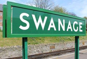 2013 - Swanage Railway - Swanage - sign