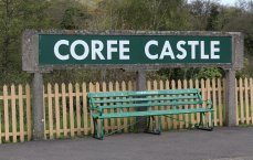 2013 - Swanage Railway - Corfe Castle sign