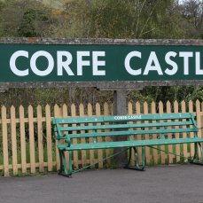 2013 - Swanage Railway - Corfe Castle sign
