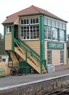 2013 - Swanage Railway - Corfe Castle - signal box