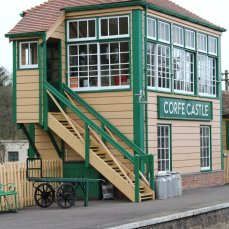 2013 - Swanage Railway - Corfe Castle - signal box