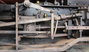 2013 - Swanage Railway - Corfe Castle - Secundus (outside Stephenson valve gear)