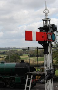 2013 Watercress Line - Ropley - Home Signal - stop