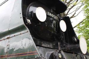 2013 Watercress Line - Ropley - NRM Bulleid pacific - 34051 Sir Winston Churchill (smokebox)