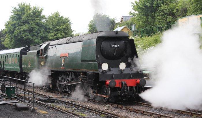 2013 - Watercress Line - Ropley - Unrebuilt West Country class - 34007 Wadebridge