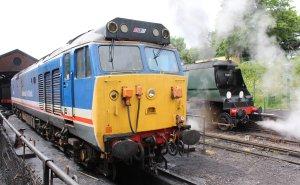 2013 - Watercress Line - Ropley - Class 50 - 50027 Lion & Unrebuilt West Country class - 34007 Wadebridge