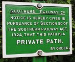 2013 - Watercress Line - Ropley - Southern Railway - Private Path Notice