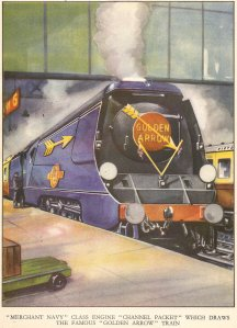 Nick Littlewood The Book of Railways by Arthur Groom 1950 - unrebuilt Merchant Navy - 35001 Channel Packet