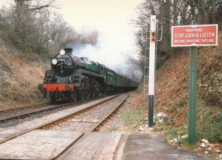 Watercress Line 1997 - BR Standard 5MT 73096 (Medstead and Four Marks)