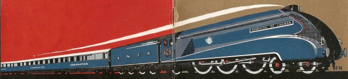 Coronation 1937 LNER Brochure - Front and Back Train B