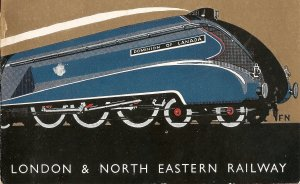 Coronation 1937 LNER Brochure - Front Train