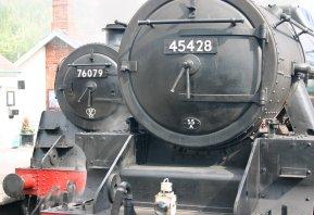 2011 - North York Moors Railway - Grosmont - 76079 & 45428 Eric Treacy