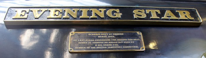 2013 National Railway Museum York - The Great Gathering - BR Standard 9F 92220 Evening Star name plate plaque