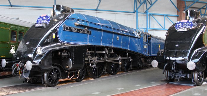 2013 National Railway Museum York - The Great Gathering - BR A4 60007 Sir Nigel Gresley & 60008 Dwight D Eisenhower