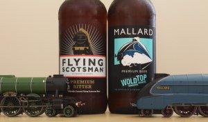 Locoyard Mallard and Flying Scotsman Beers with models