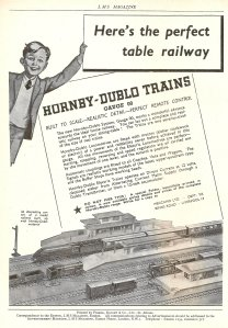 Nick Littlewood - Hornby Dublo Advert - December 1938 edition of LMS Magazine