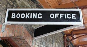 2013 South Devon Railway - Buckfastleigh - Booking Office sign