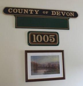 2013 South Devon Railway - Buckfastleigh - 1005 County of Devon nameplates