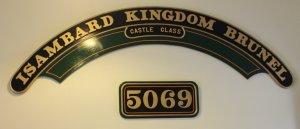 2013 South Devon Railway - Buckfastleigh - 5069 Isambard Kingdom Brunel nameplates