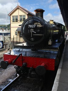2013 Paignton and Dartmouth Railway - Kingswear - BR 72xx 4-6-0 Class - 7827 Lydham Manor