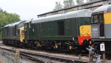 2013 South Devon Railway - Buckfastleigh - class 20 D8110 (20 110)