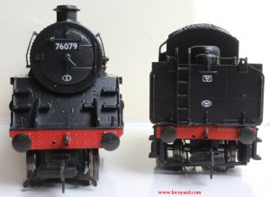 Locoyard Model Reveiw - Bachmann BR Standard 4MT class - 76079 (smokebox and tender back)