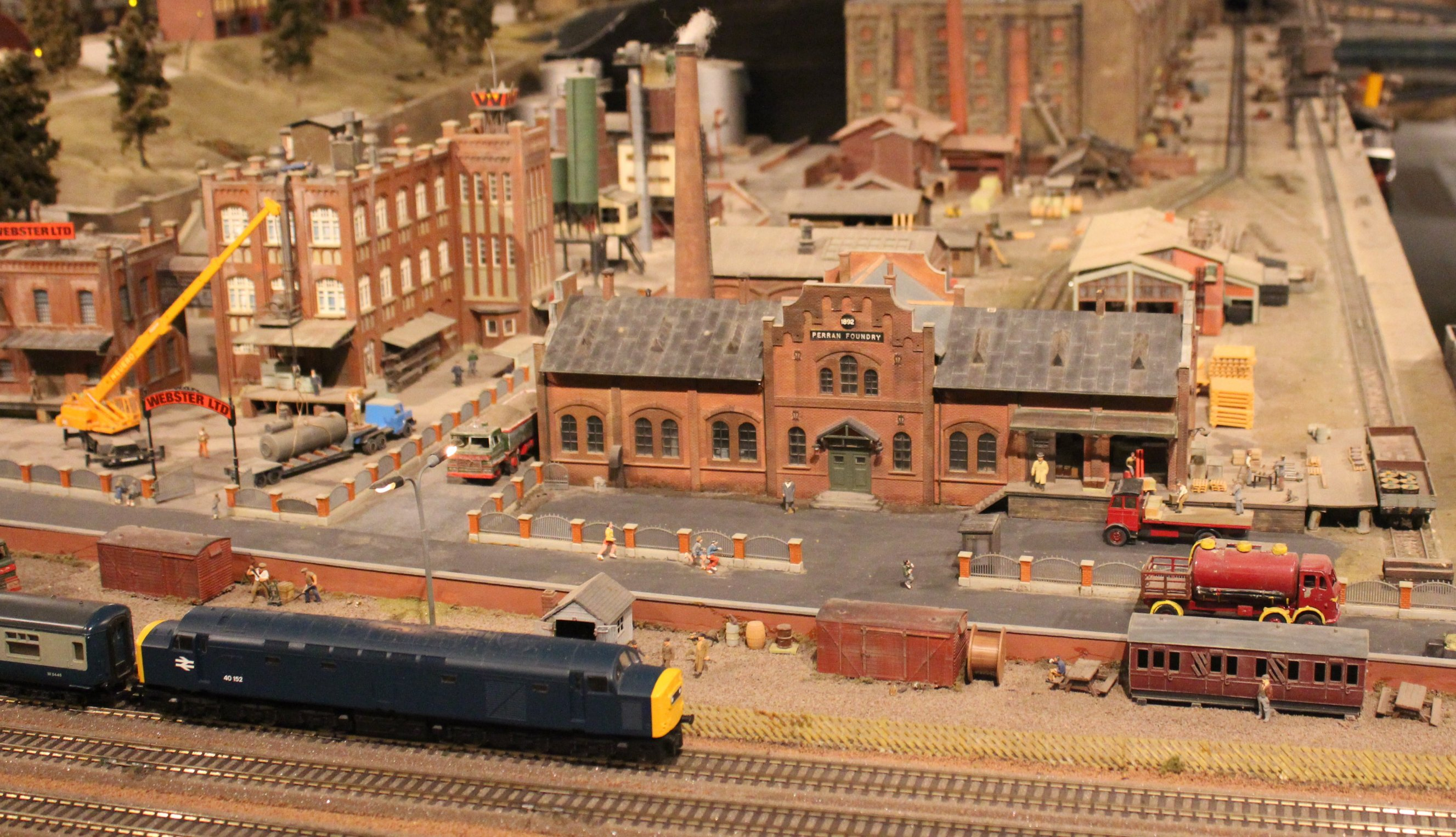 trago mills 00 scale model railway 2013 13 foundry loco yard
