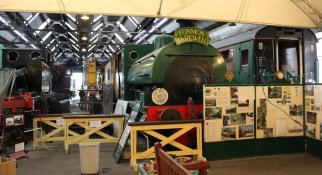 2013 Spa Valley Railway - Tunbridge Wells West - engine shed Pecket 1636 Fonmon